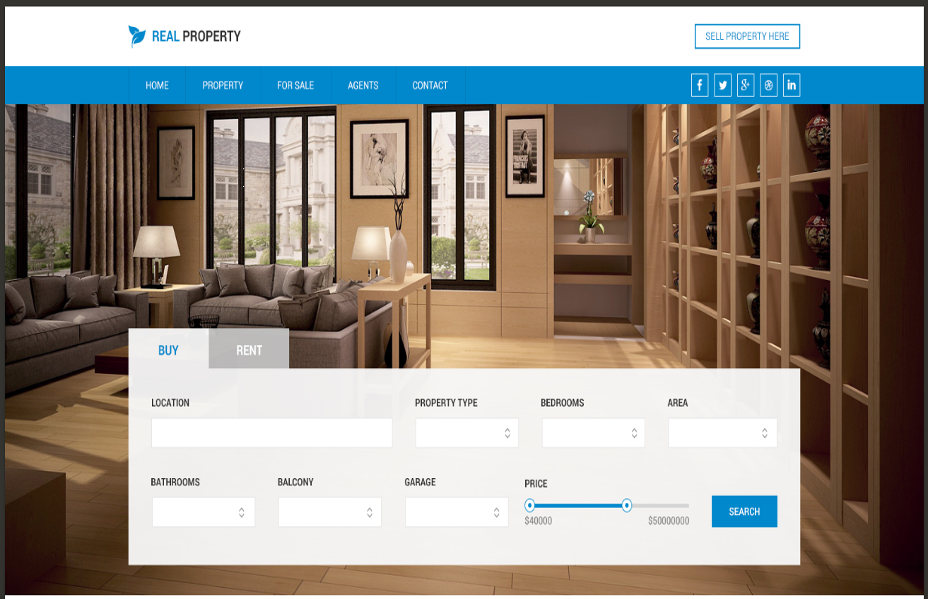 20+ Best Designed Real Estate Website Templates - Graphic Cloud