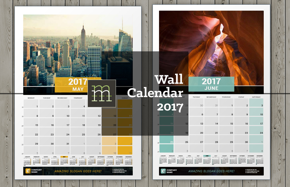 20 Best Wall Calendar Template Designs PSDPNG EPS