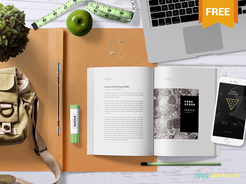 Attractive Book Mockup PSD
