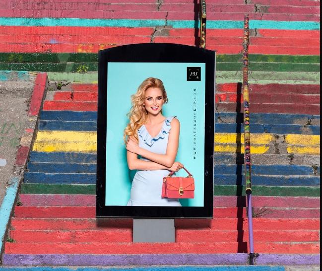Billboard Poster Mockup PSD