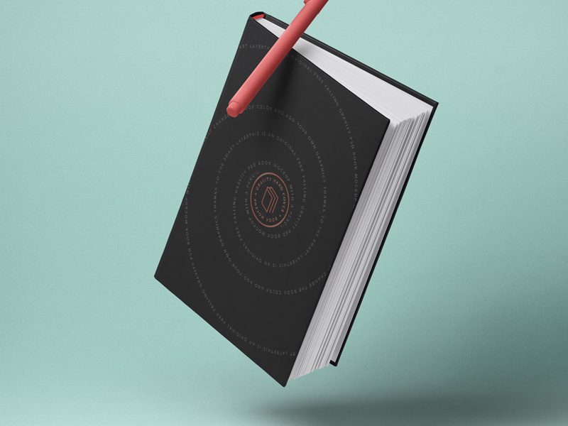PSD Book Cover Mockup