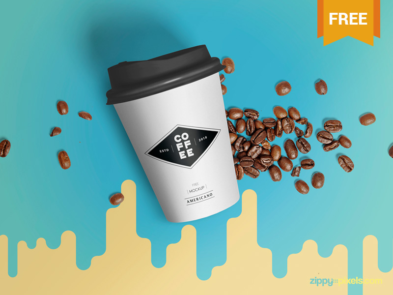 Customizable paper Cup Mockup