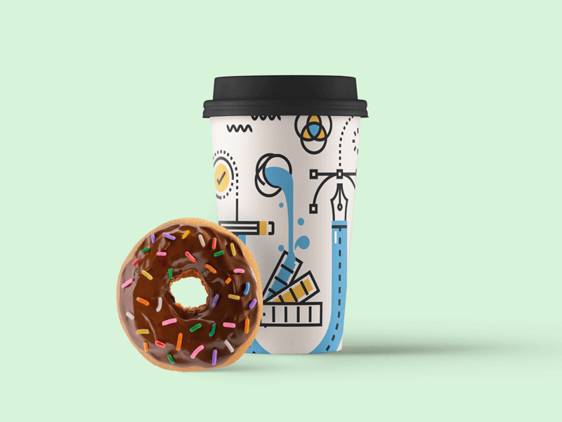 Editable Paper Cup Mockup