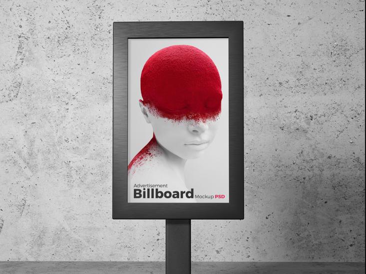 Free Billboard Stand Mockup PSD