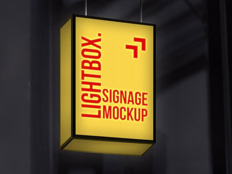 Hanging Sign Mockup Free