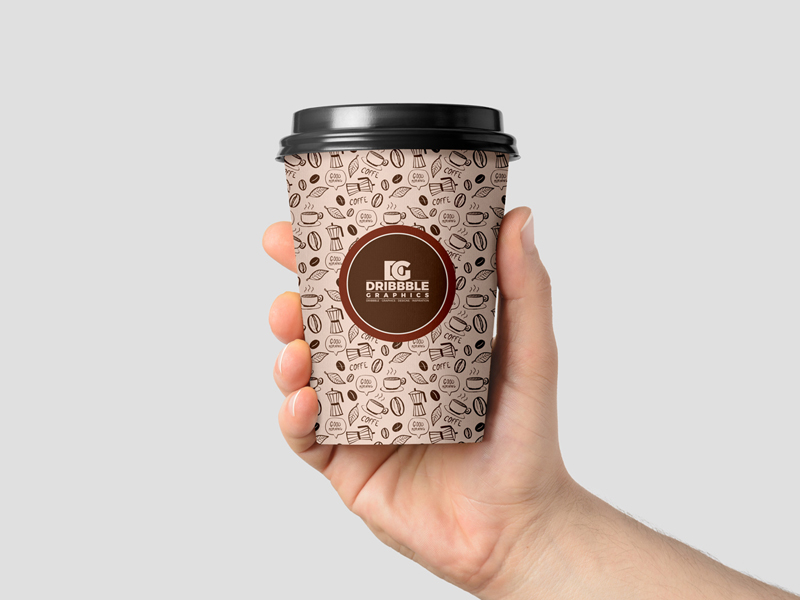 Holding Cup Mockup PSD