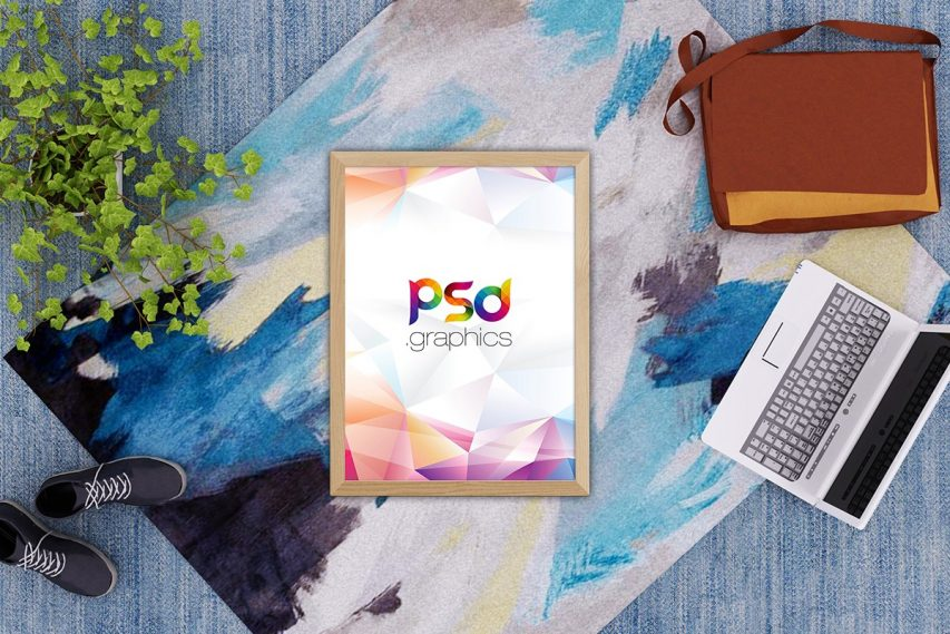 Lay Poster Mockup PSD
