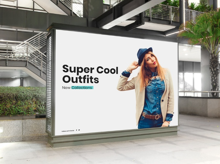 Mall Indoor Billboard Mock-up