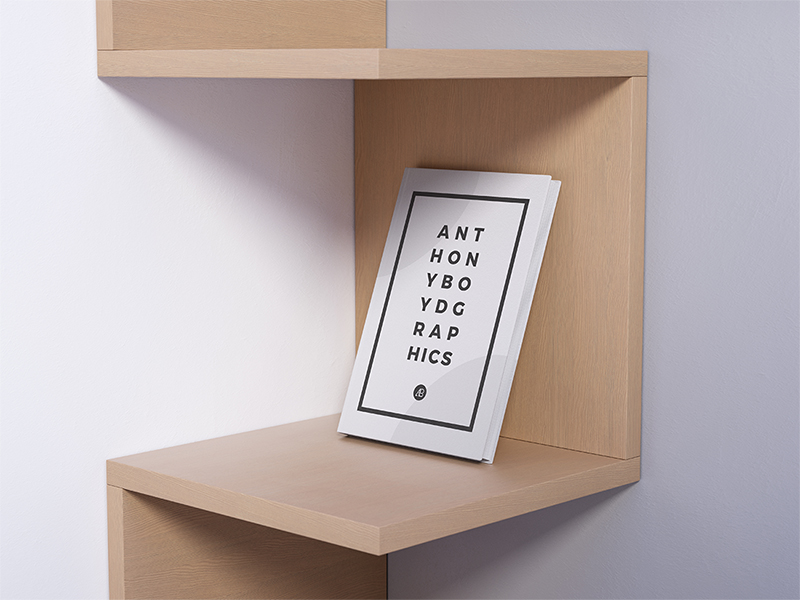 Modern Book Mockup PSD