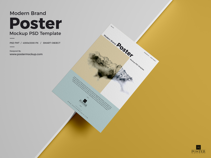 Free Modern Poster Mockup PSD Download