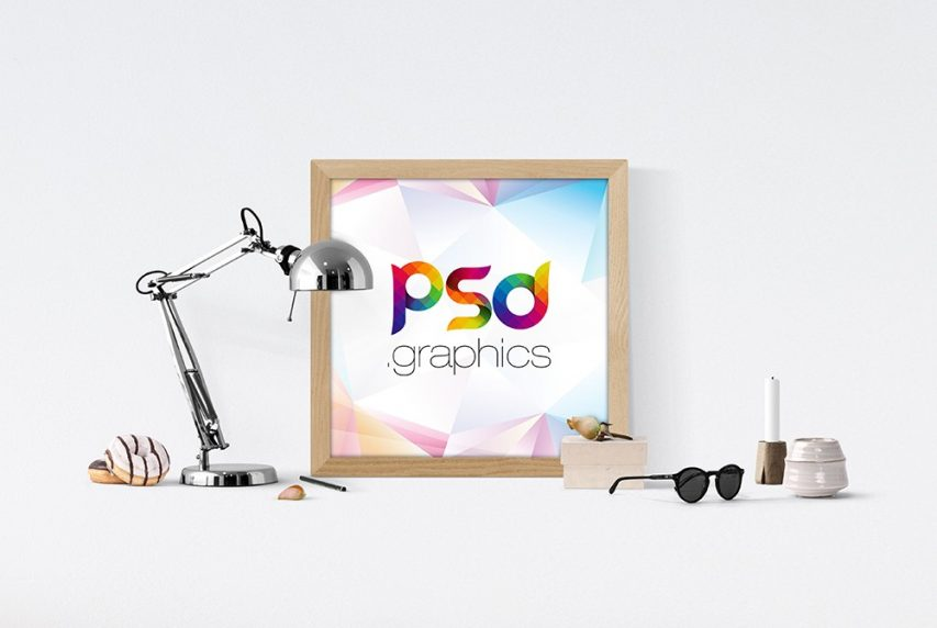 Poster Frame Mockup PSD Free