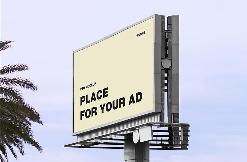 Realistic Billboard Ad Mockup