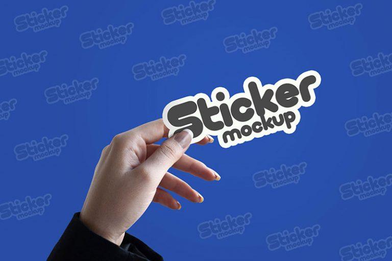 Realistic Sticker Mockup
