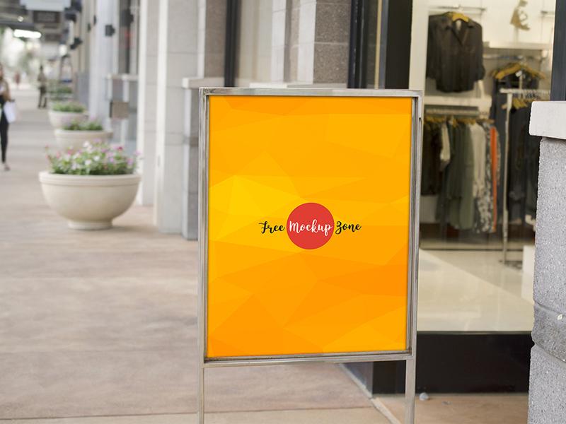 Sale Sign Mockup PSD