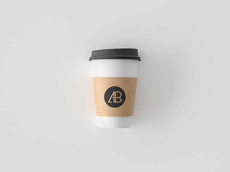 Simple Coffee Cup Mockup PSD