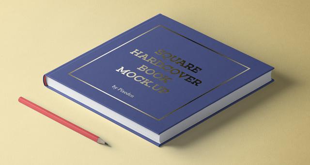 Square PSD Book Mockup PSD