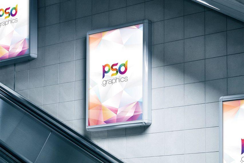 Subway Ad Mocup PSD