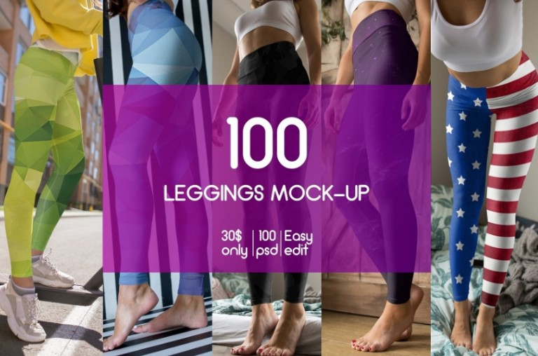 100 Leggings Mockup PSD