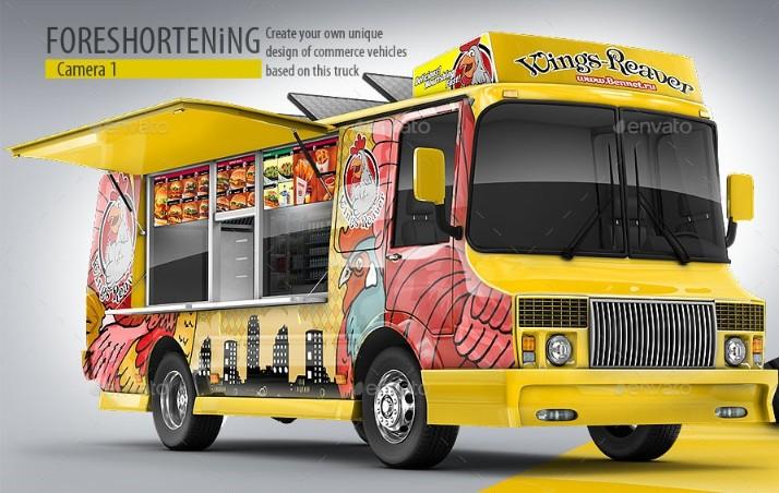 3D Food Truck Mockup