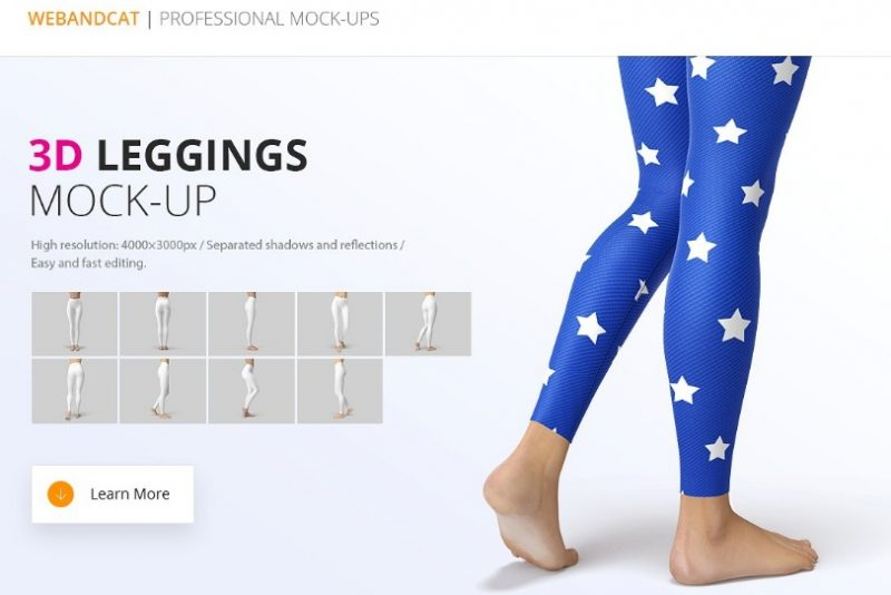 3d Leggings Mockup psd