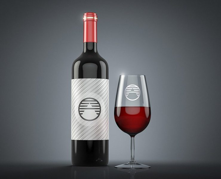 25+ Wine Label Mockup PSD Free Download