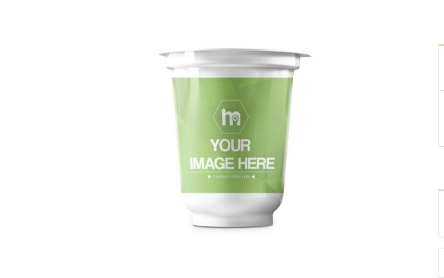 3D Yogurt Mockup PSD Generator