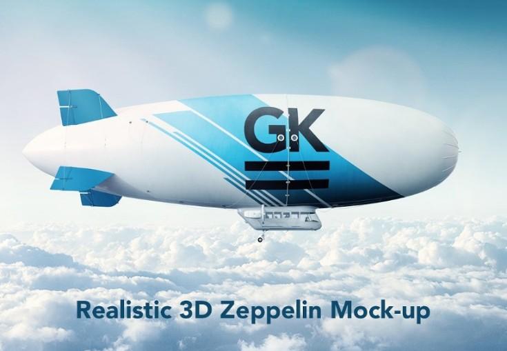 3D Zeppelin Mockup PSD