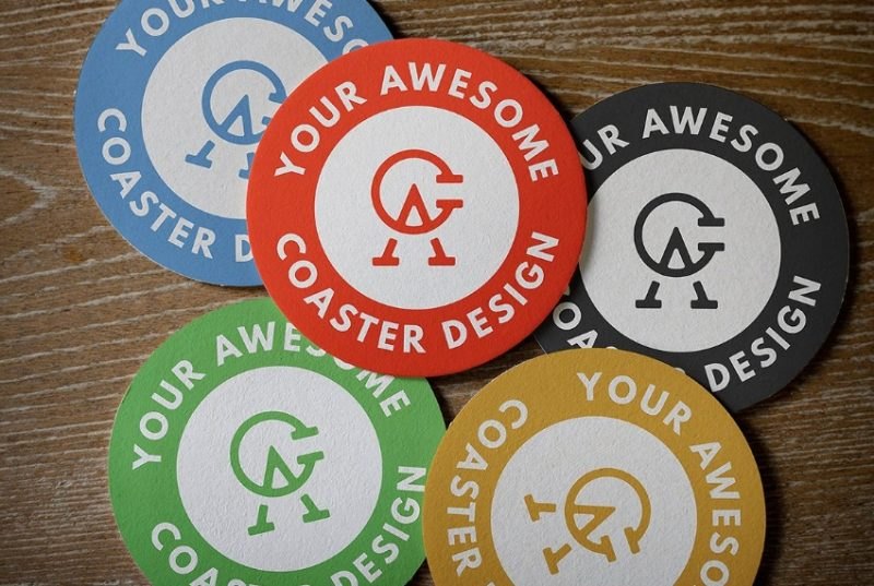 5 Circular Coaster Mockups Pack
