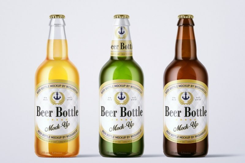 500ml Beer Bottle Mockup