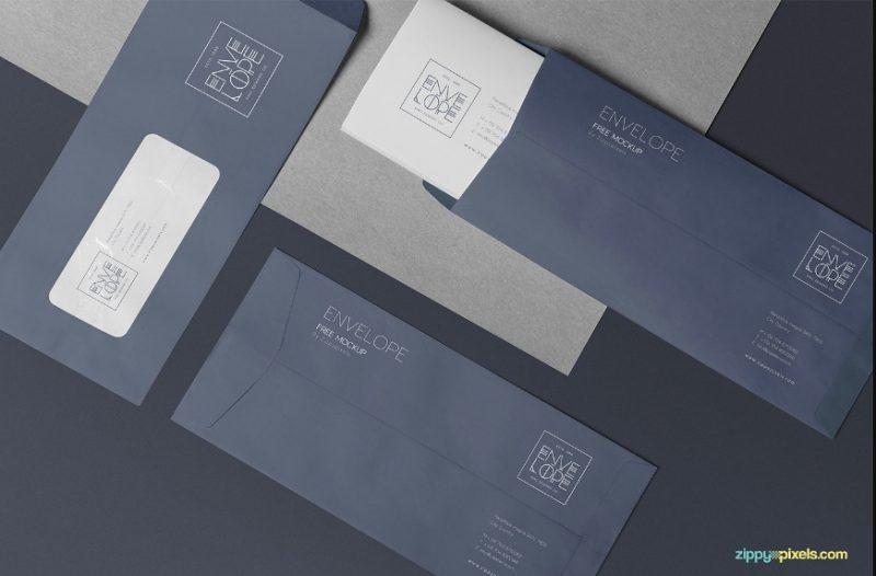 A4 Professional Envelope Mockup