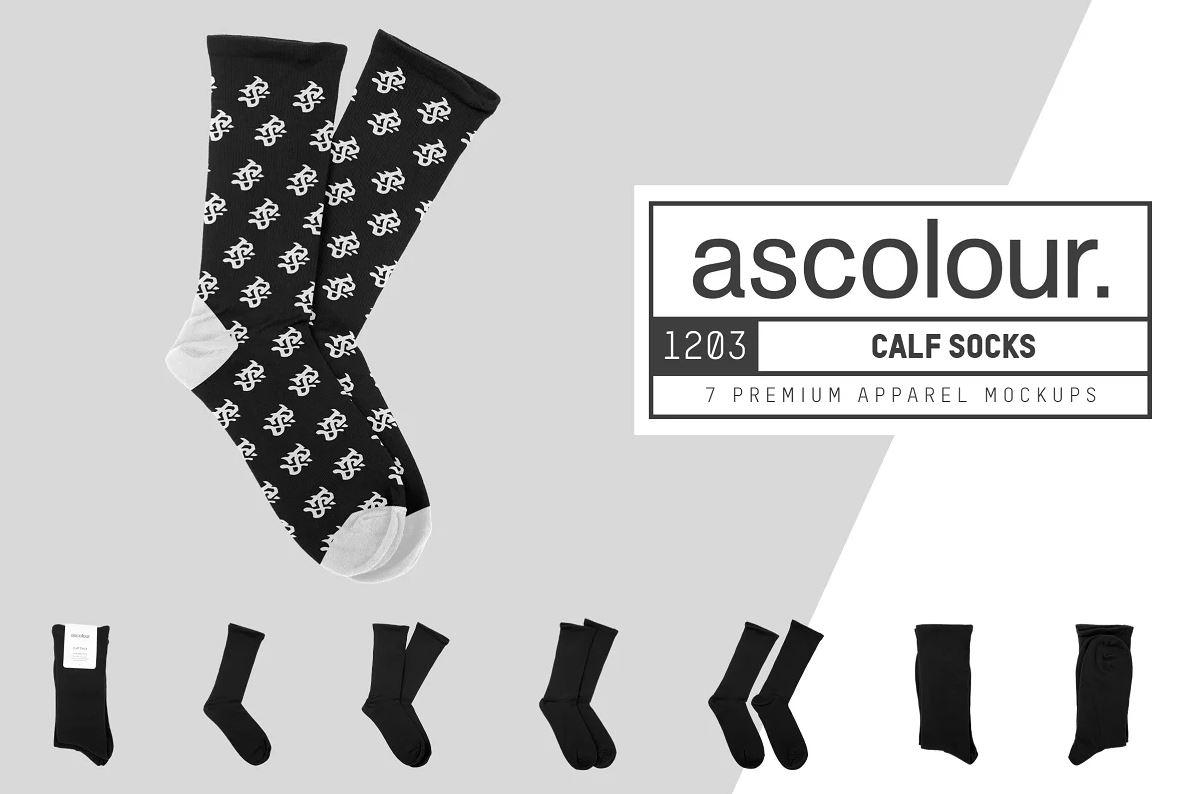 AS Colour 1203 Calf Sock Mockups