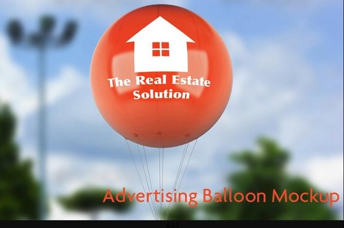 Advertising Balloon Mockup PSD