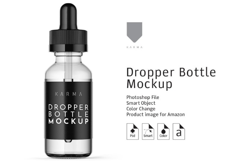 Amazon Ready Dropper Bottle Mockup