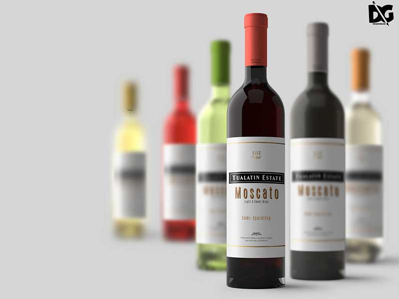 Awesome Wine Label Mockup PSD