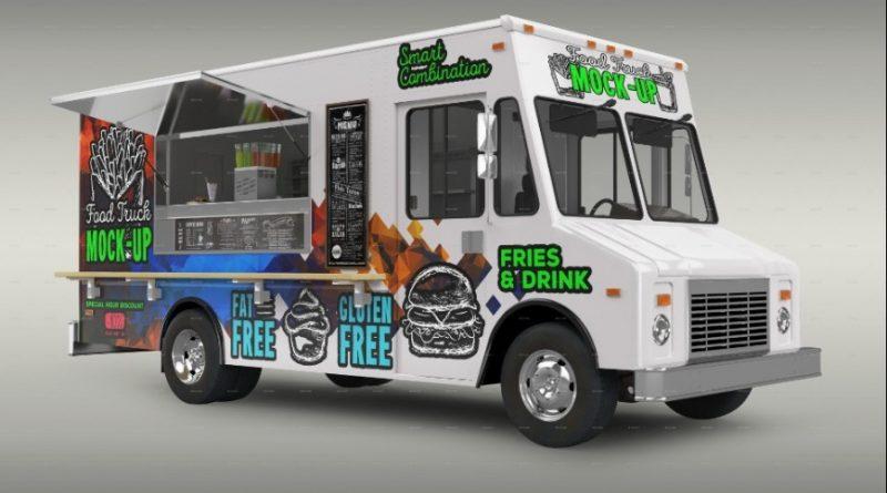 BBQ Food Truck Mockup