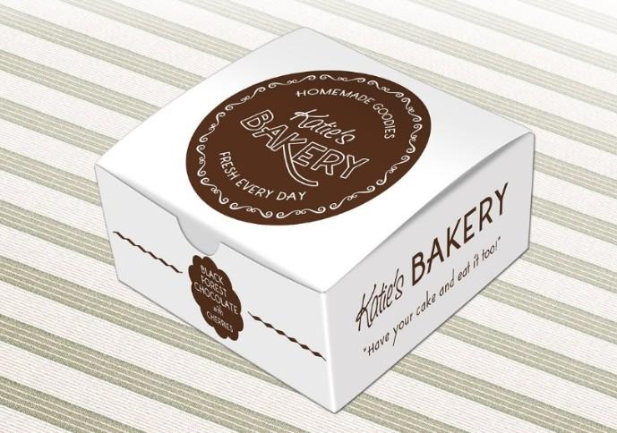 Bakery Cake Box Mockup PSD