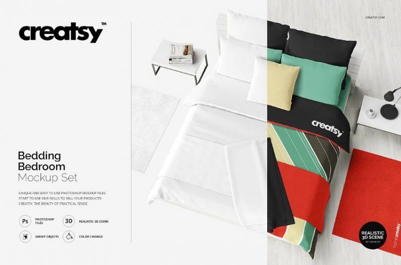 Bedroom Mockup PSD Pack