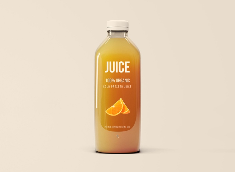 Big Juice Bottle Mockup PSD
