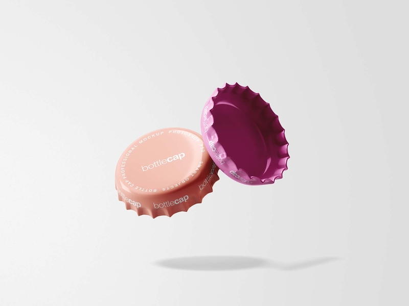 Free Bottle Cap Mockup PSD