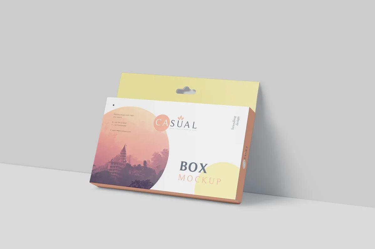 Box Mockup - Wide Slim Rectangle
