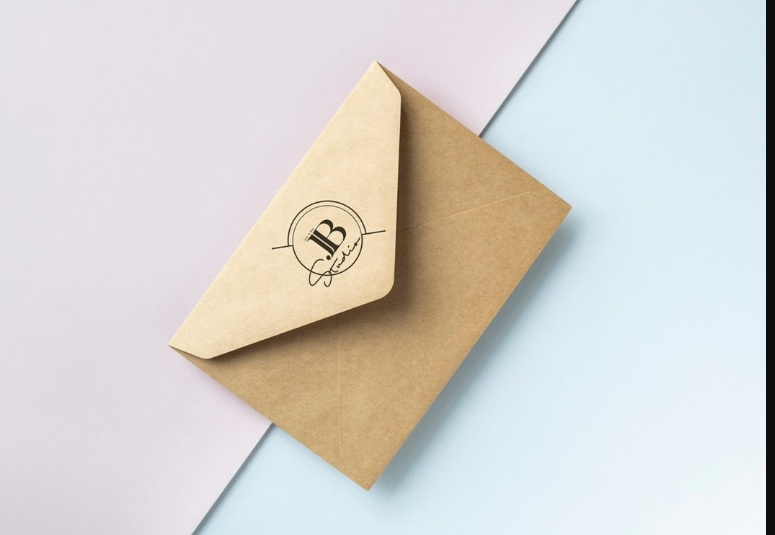 Brown Paper Envelope Mockup Free