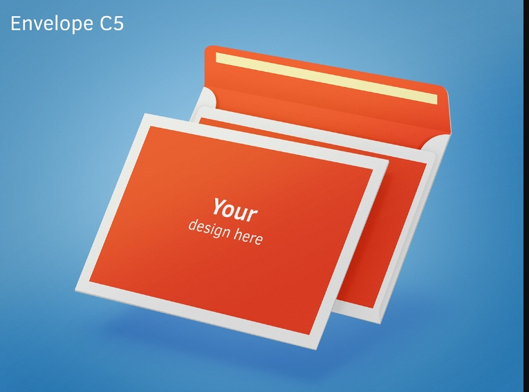 C5 Envelope Mockup Download