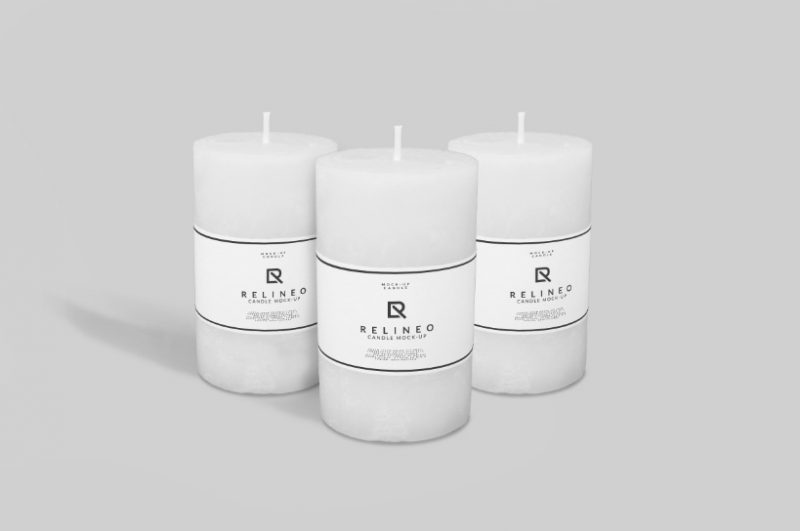 Candle Label Mockup PSD