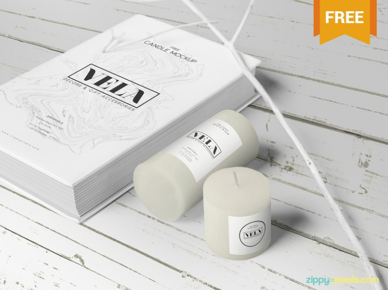 Candle Packaging Mockup PSD