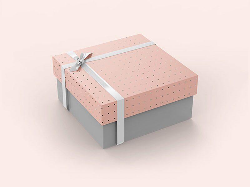 Carton Gift Box Mockup PSD
