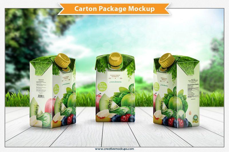 Carton Package Mockup PSD