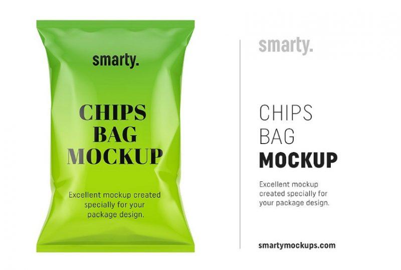 Chips Bag Mockup PSD