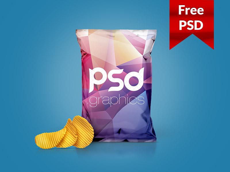 Chips Foil Bag Mockup PSD