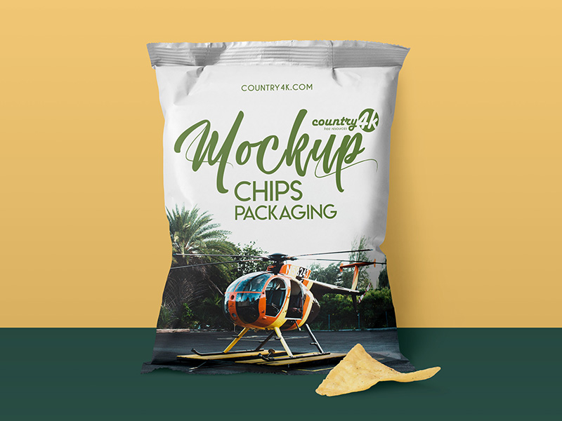Chips Packaging Mockup PSD