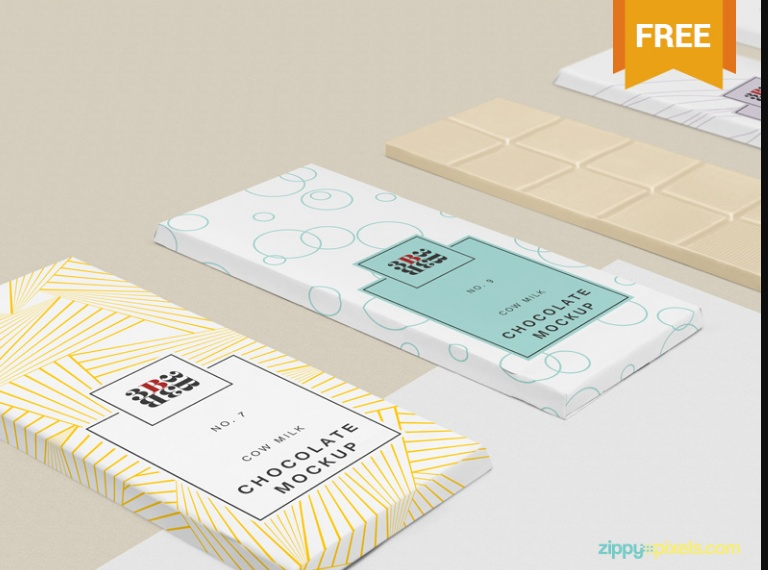 Chocolate Bar Mockup PSD